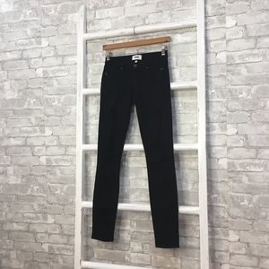 Paige Verdugo Ultra Skinny Black Distressed Jeans